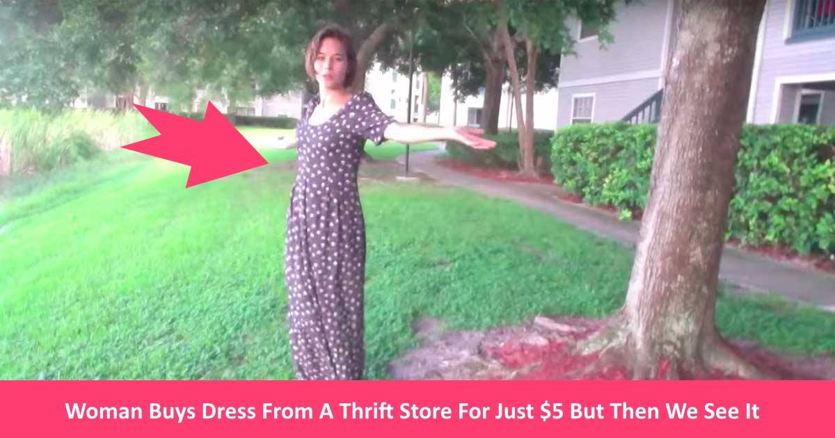 dressssy.jpg?resize=300,169 - Woman Buys Dress From A Thrift Store For Just $5 But Her Victory Dance Reveals The Truth