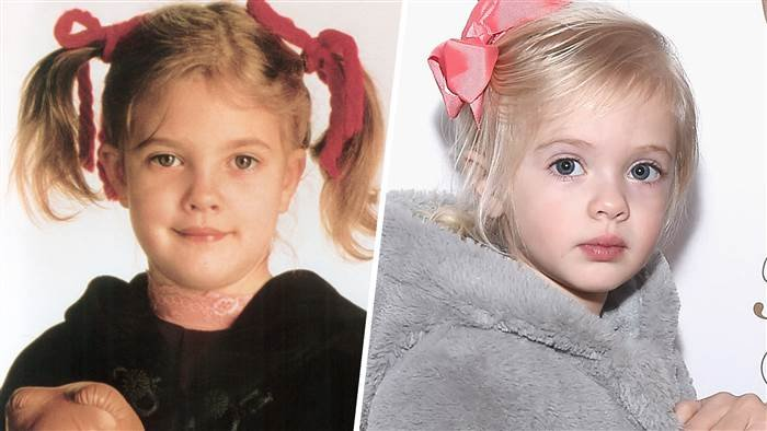drew barrymore and her daughter young drew barrymore daughter frankie split tease today 170309 63e57a366803d6d15ae06a9a4e8102a0.today inline large - Drew Barrymore Shares Rare Photos Of Her Daughter, She Looks Exactly Like Mom!