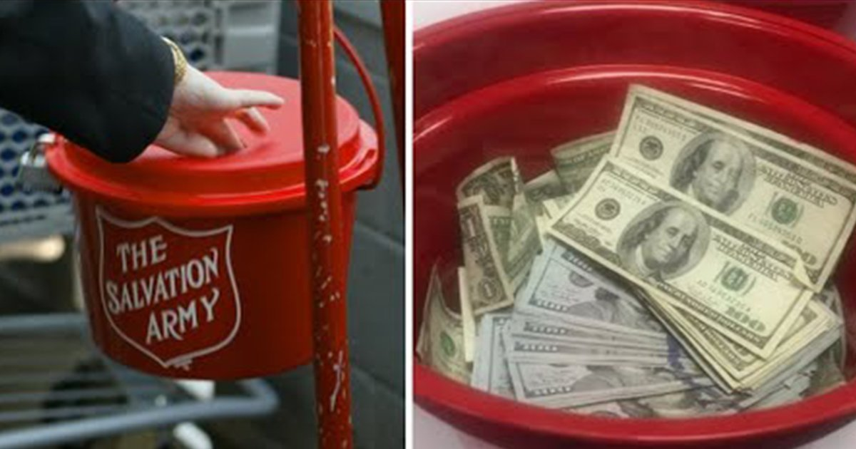 ec8db8eb84a4ec9dbc3 3 - Salvation Army Unseals Red Kettle To Get The Sum Of Donations, Then Finds $10,000 Cash Pile
