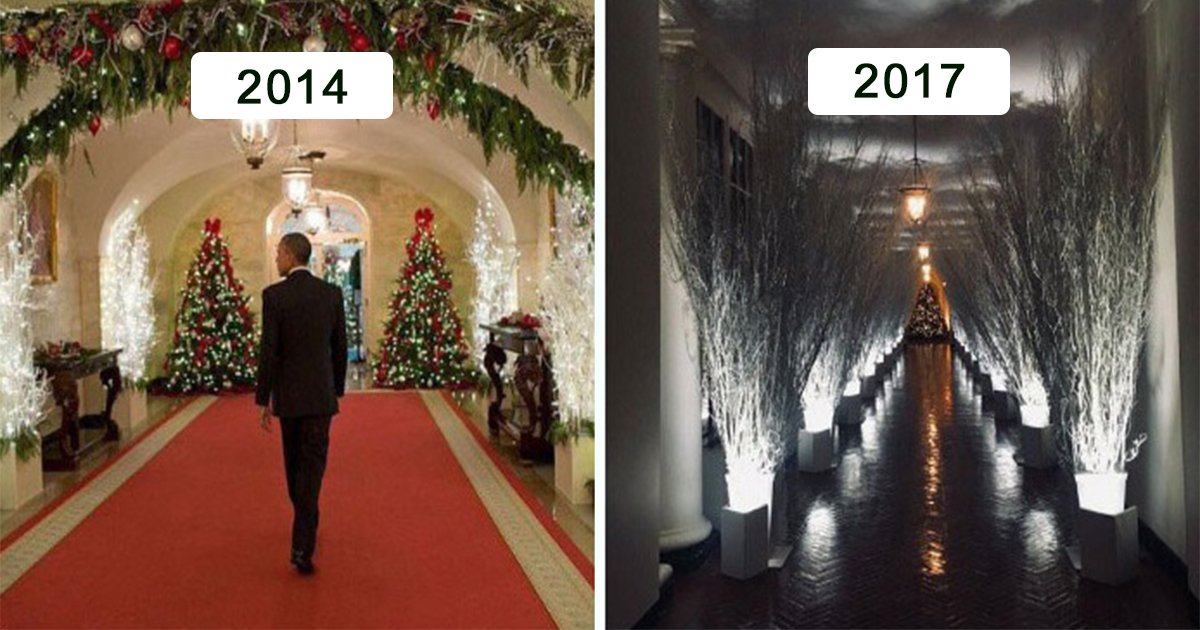 creepy white house christmas decorations done by melania trump