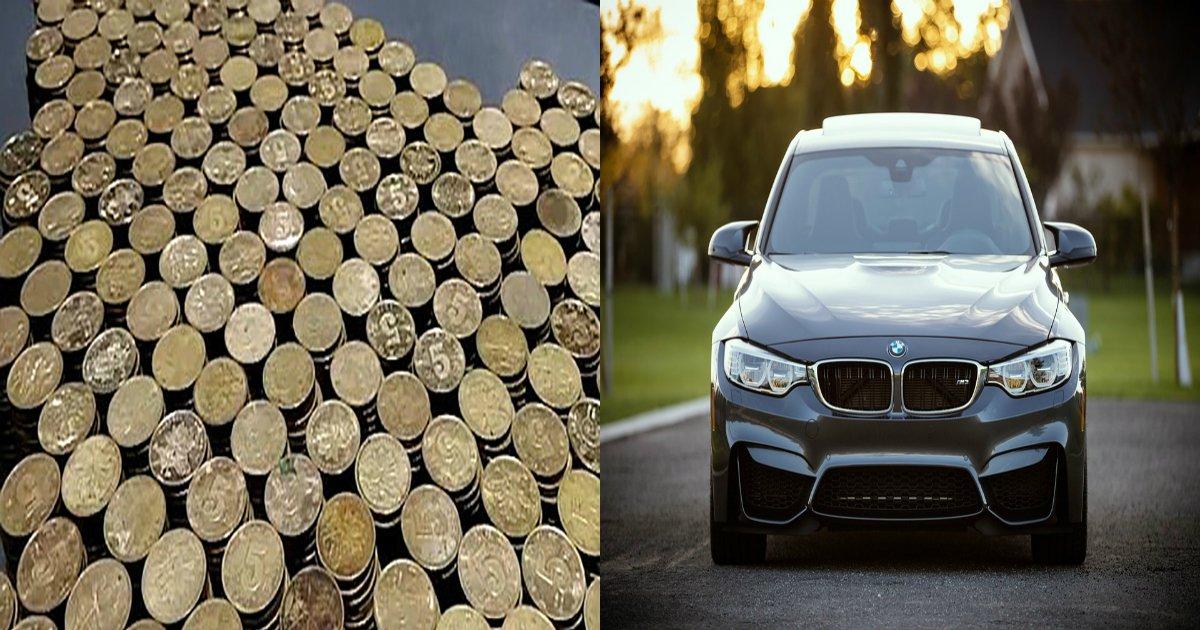 "ec8db8eb84ac.jpg?resize=648,365 - ""티끌 모아 태산""... '거스름돈' 동전으로 6600만 원짜리 'BMW' 산 남성"