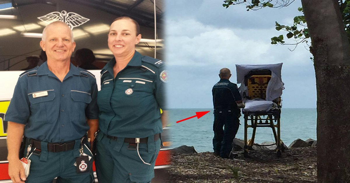 ec8db8eb84ac12 - Paramedic Takes Dying Woman to See Beach on Stretcher One Last Time