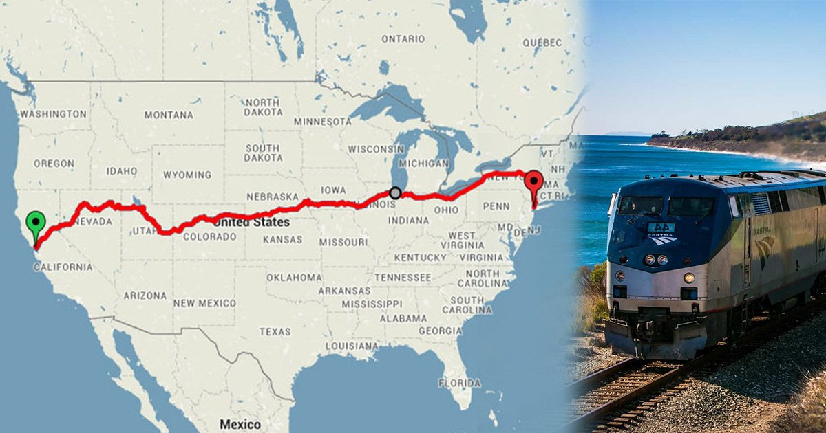 Train Travel Usa Map.Travel Across The Usa In Just 200 By Train Travel Blogger