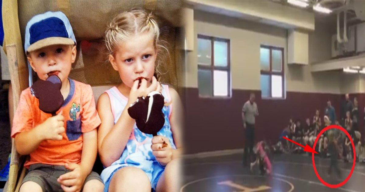 ec8db8eb84ac7 4 - Irmãozinho assiste irmã mais velha ser atirada no chão em luta e decide salvá-la!