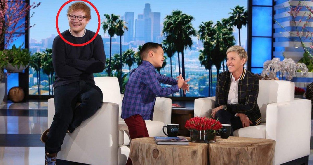eca09cebaaa9 ec9786ec9d8c 134.png?resize=1200,630 - Un garçon obtient une jolie surprise en chantant une chanson d'Ed Sheeran pour Ellen DeGeneres