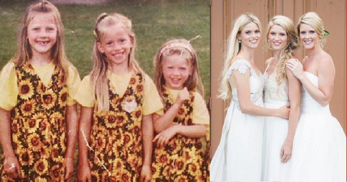eca09cebaaa9 ec9786ec9d8c 138.png?resize=1200,630 - Três irmãs realizam sonho de se casarem juntas em um casamento triplo!