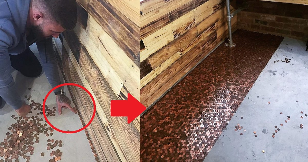 eca09cebaaa9 ec9786ec9d8c 140 - Barber Covers His Entire Floor With 70,000 Pennies And It Was Worth It