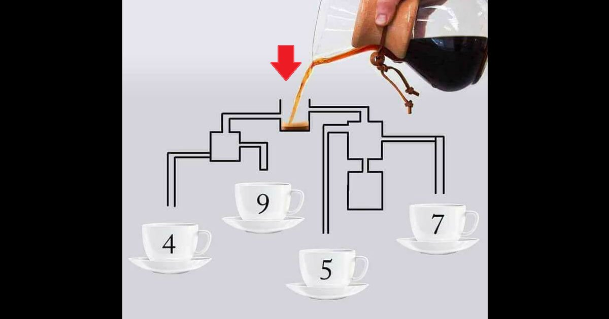 """eca09cebaaa9 ec9786ec9d8c 17.png?resize=412,232 - """"Qual xícara enche primeiro?"""" - Preste atenção, pois o desafio não é tão fácil quanto parece"""