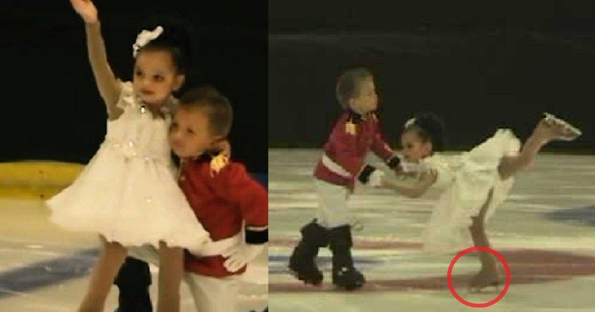 eca09cebaaa9 ec9786ec9d8c 57 - 4-Year-Old Twins Perform Ice Skating Ballet, Audience Can't Handle Their Cuteness