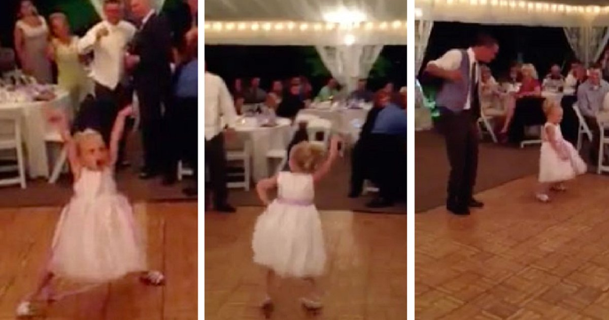 eca09cebaaa9 ec9786ec9d8c 58 - This Flower Girl's Dance Move Takes Over Entire Wedding, And Quickly The Internet Too