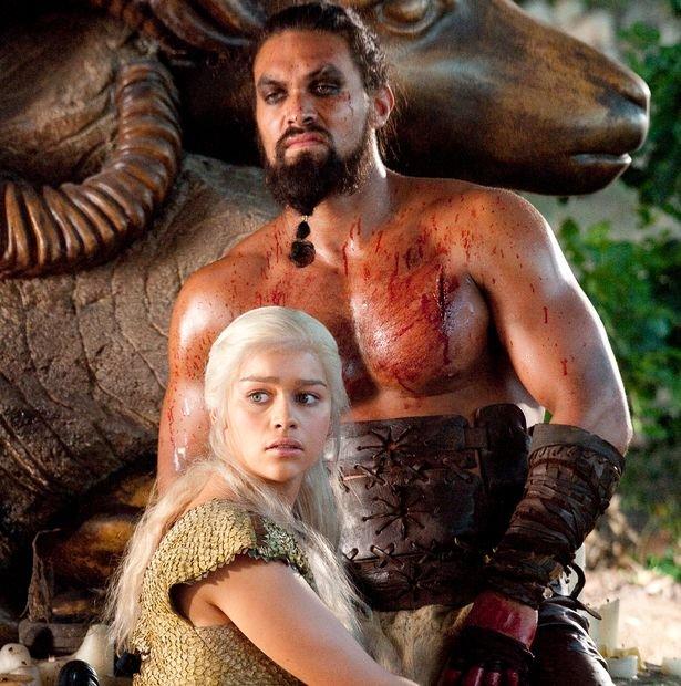 emilia clarke and jason momoa Emilia Clarke as Daenerys - 'Game Of Thrones' Emilia Clarke Reunited With Jason Momoa