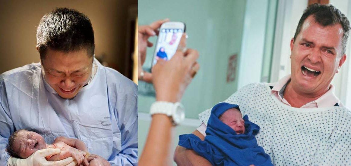 emotionaldads e1517558570718.jpg?resize=1200,630 - 10 fotos emocionantes de pais na sala de parto!