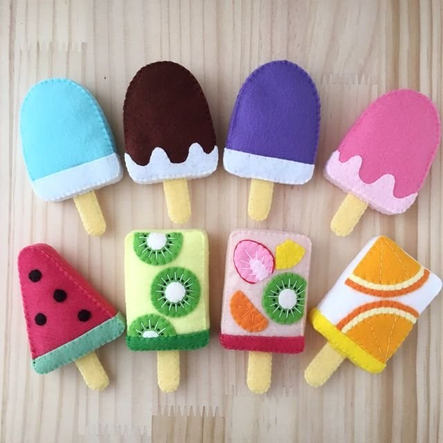 handicraft beginners are relieved too easy felt work 0f34318a7390eca178a9563b9591f0f0  felt popsicle felt fruit - 手芸初心者にも安心!かんたんフェルト工作