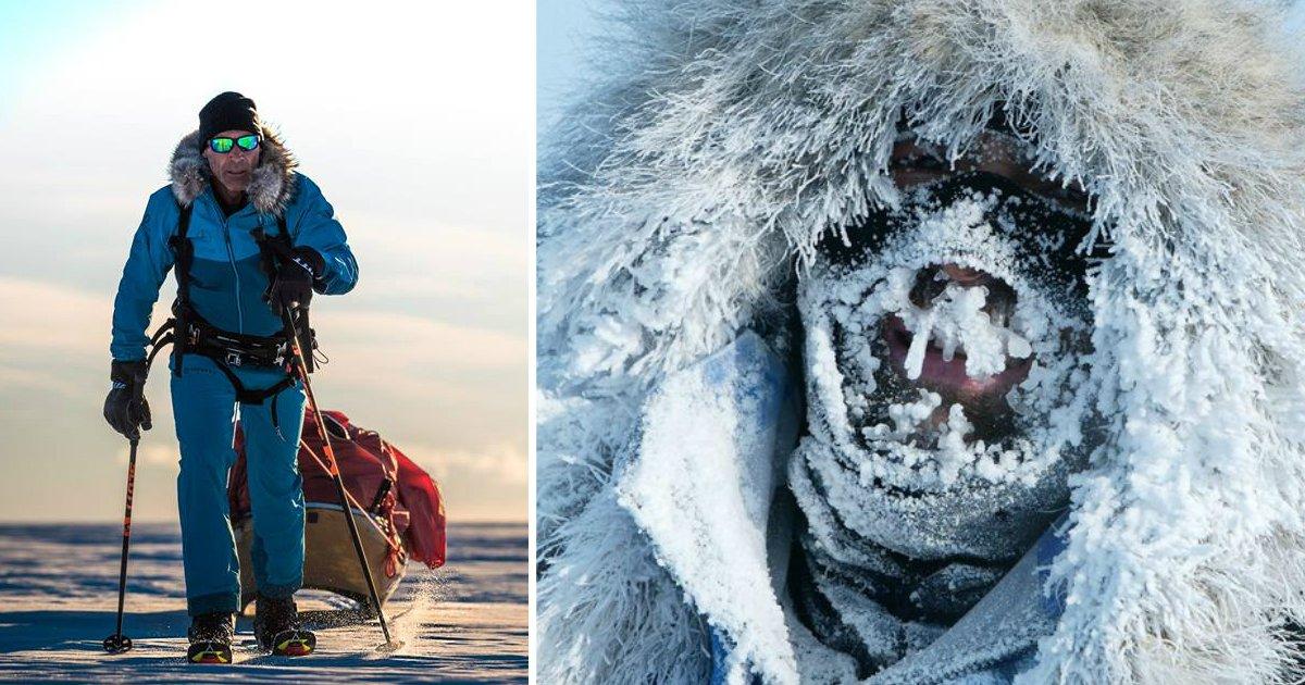 hornfin - Ele se tornou o primeiro homem a atravessar a Antártida sozinho