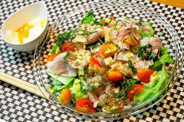 Image result for サラダうどん 中華風