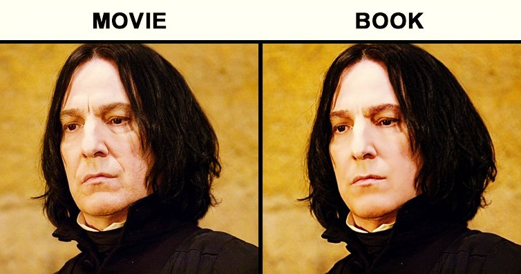hpfeatured - Harry Potter Characters: Original Book version Vs. Movie version