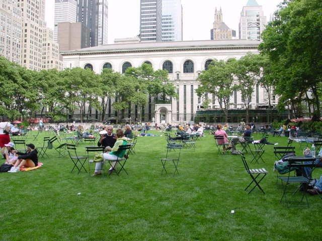 Image result for ニューヨーク ブライアントパーク