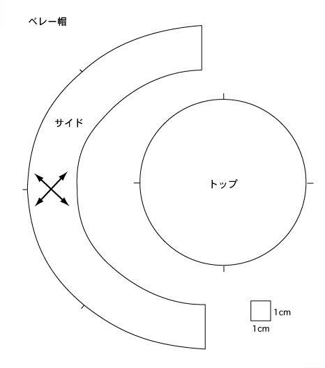 Image result for ベレー帽 作り方 型紙