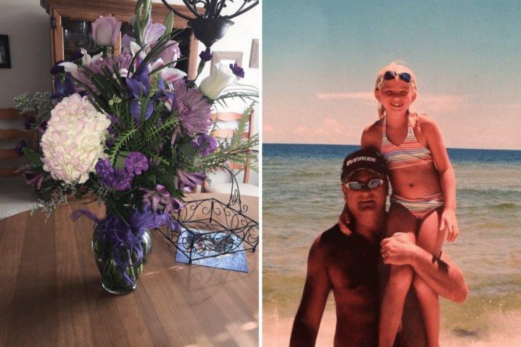 img 5a2638665dfa5 1 - Mesmo tendo morrido há 4 anos, pai segue presenteando a sua filha com flores