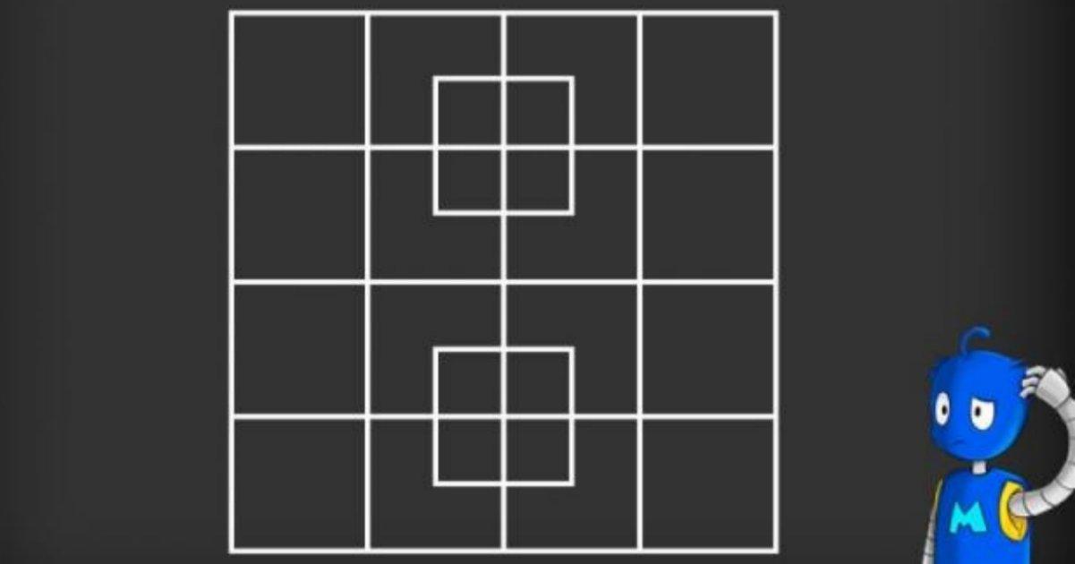 img 5a4108a487706 - 【Quiz】正方形は全部で何個ある?