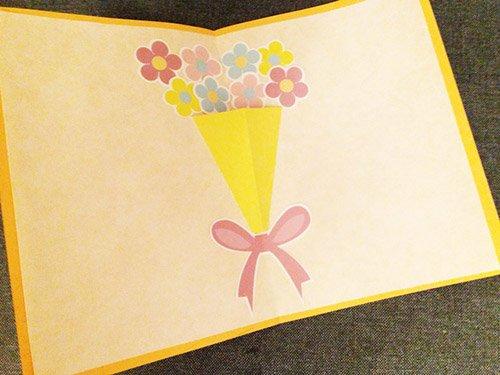 花束のポップアップカード