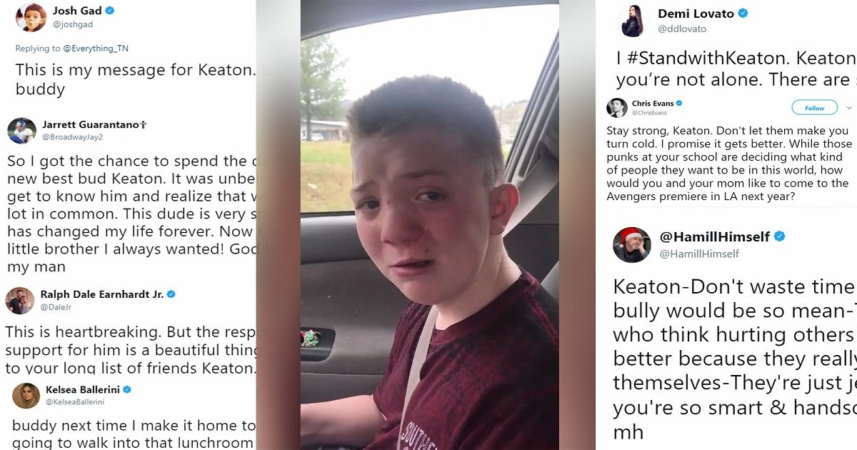 keaton jones 1.jpg?resize=636,358 - Bullied Kid Asked Mom To Record Him Because He Was Afraid Of Going To Lunch