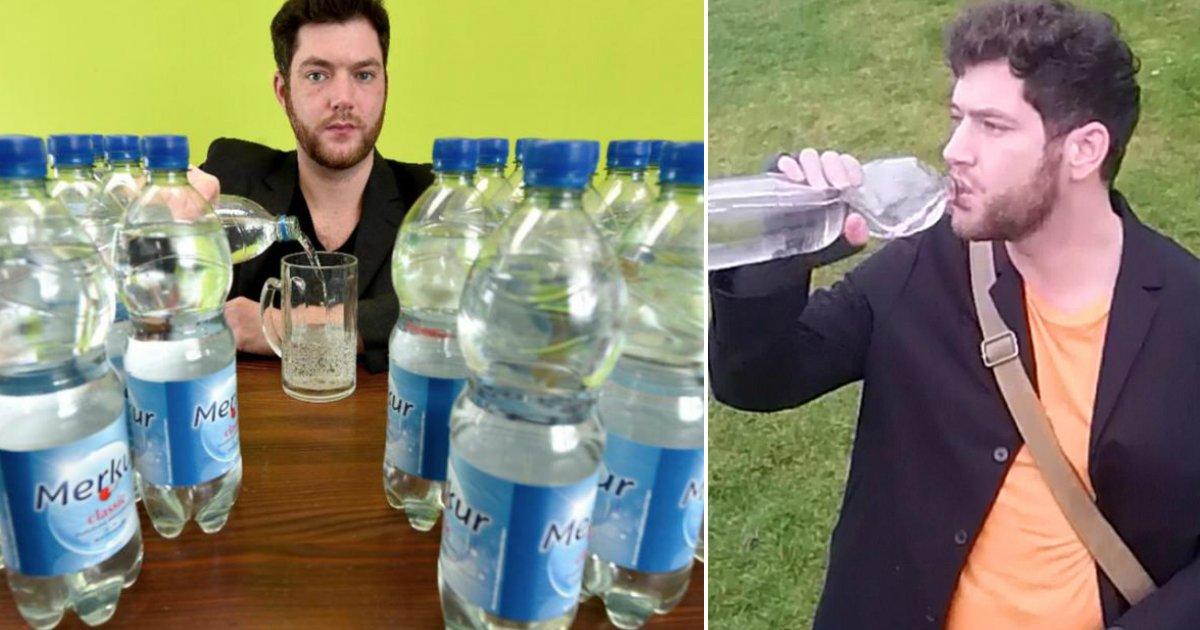 litro - Alemão sofre de doença rara e precisa consumir 20 litros diários de água