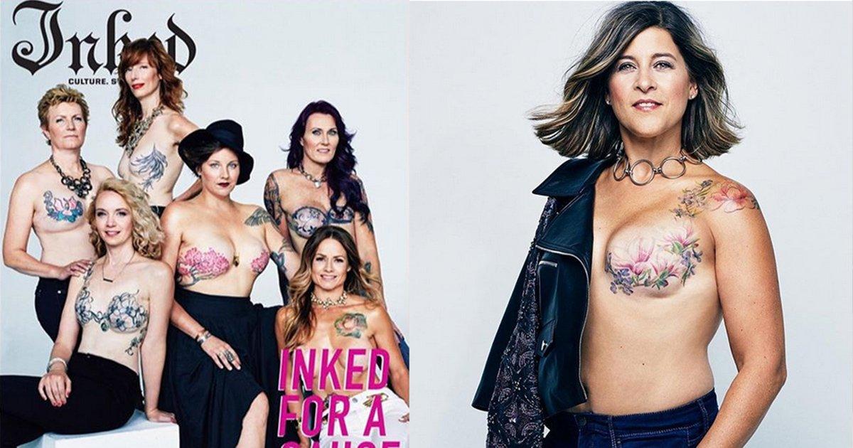mainphoto inked - Mulheres que superaram o câncer de mama recebem ensaio de foto inspirador
