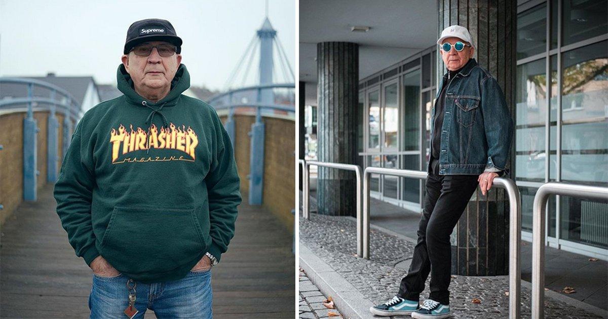 """mainphoto papy - [Photos] A 71 ans, il """"casse"""" Instagram."""
