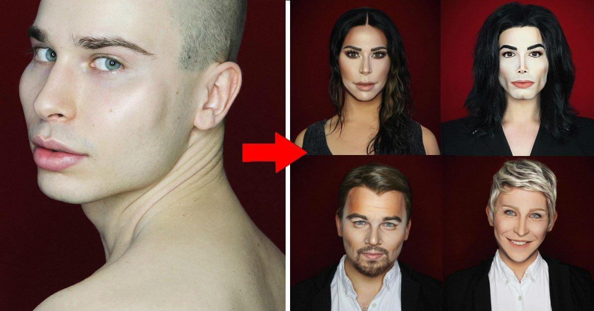 maqfin.jpg?resize=412,232 - Jovem consegue se transformar em qualquer celebridade apenas com maquiagem
