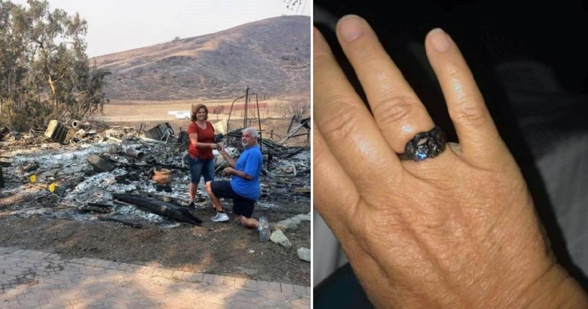 myers3 1.jpg?resize=300,169 - Husband Re-Proposes To His Wife After Finding Her Wedding Ring In Their Burned House