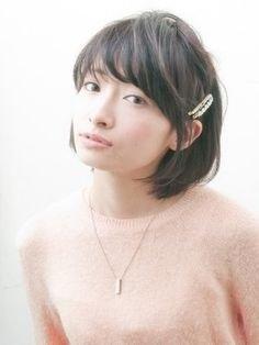 Image result for ショートヘア 大きいピン