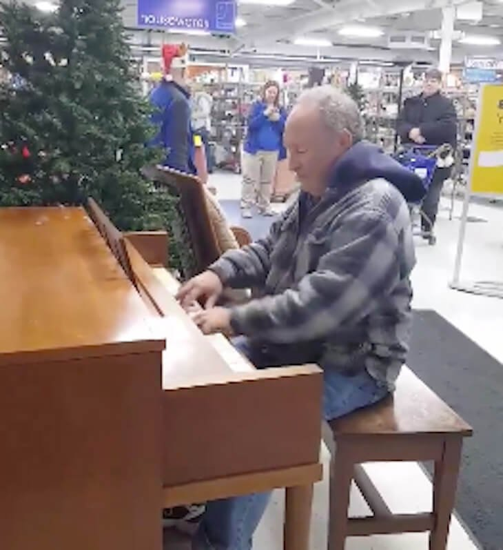 pianist goodwill - Elderly Man Starts Playing Piano In Goodwill Store... Soon Every Note He Plays Touches Everyone's Heart