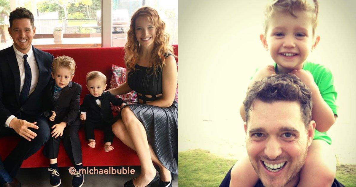 portaa.jpg?resize=1200,630 - Noah, el hijo de 4 años de Michael Buble, ganó la batalla contra el cáncer y ahora está muy bien
