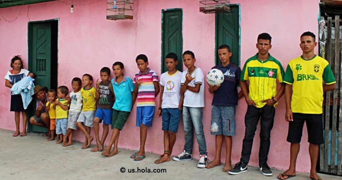 portada 11.jpg?resize=1200,630 - Un matrimonio en Brasil tuvieron 13 hijos varones y aún siguen buscando la niña.