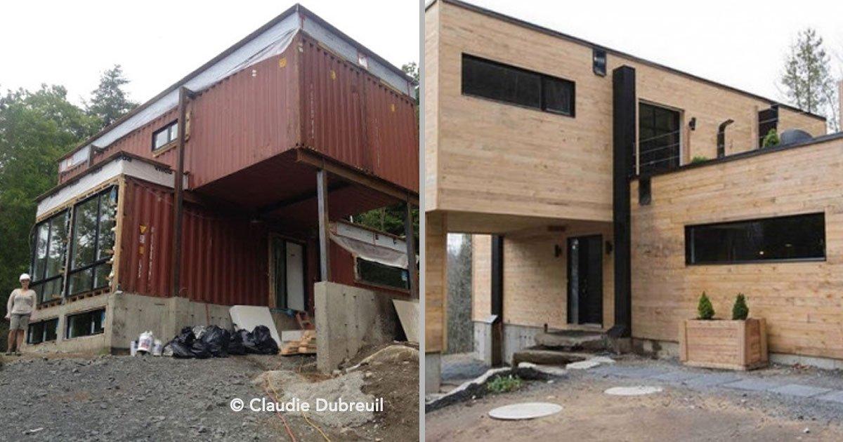 portada 14 - Increíble proyecto de una chica canadiense, construye una casa con contenedores, el resultado es fabuloso