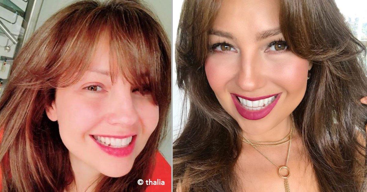 portada 28 - La cantante Thalia se muestra radiante en sus redes sin maquillaje