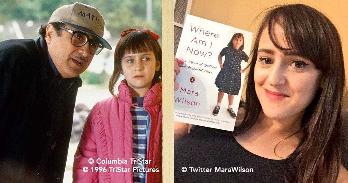 """portada 30.jpg?resize=300,169 - Mientras grababa """"Matilda"""" la pequeña Mara Wilson perdió a su madre, pero Danny DeVito siempre estuvo junto a ella"""