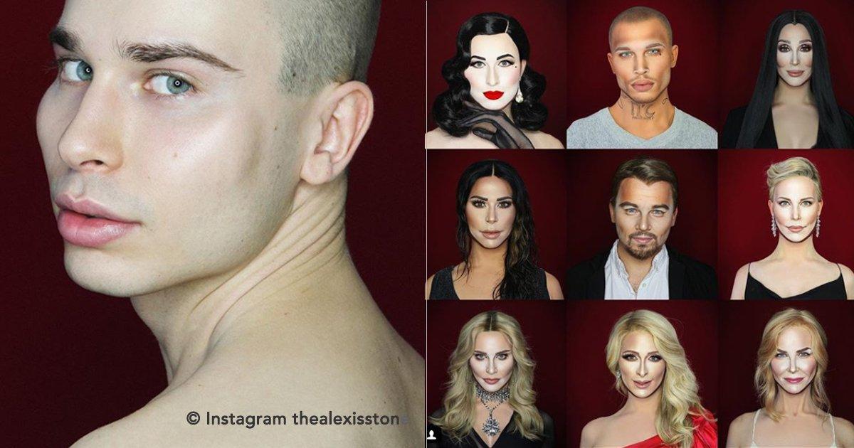 portada 7.jpg?resize=1200,630 - Un joven puede transformarse en cualquier celebridad solo con maquillaje
