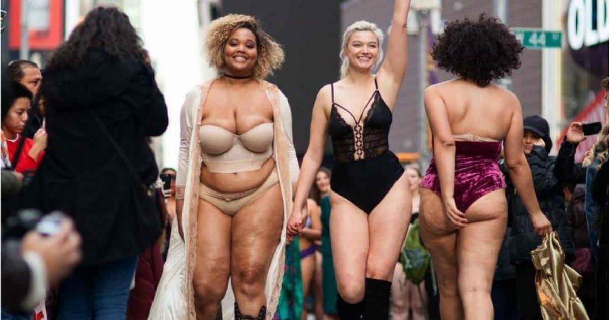 sans titre 2.png?resize=412,232 - Desfile de lingerie em Times Square enfrenta os ditames inumanos da indústria da moda