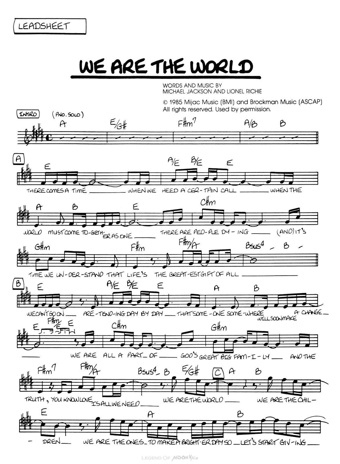 song we are the world watw ls 1 - 世界を救え!ウィアーザワールドに込められた願い