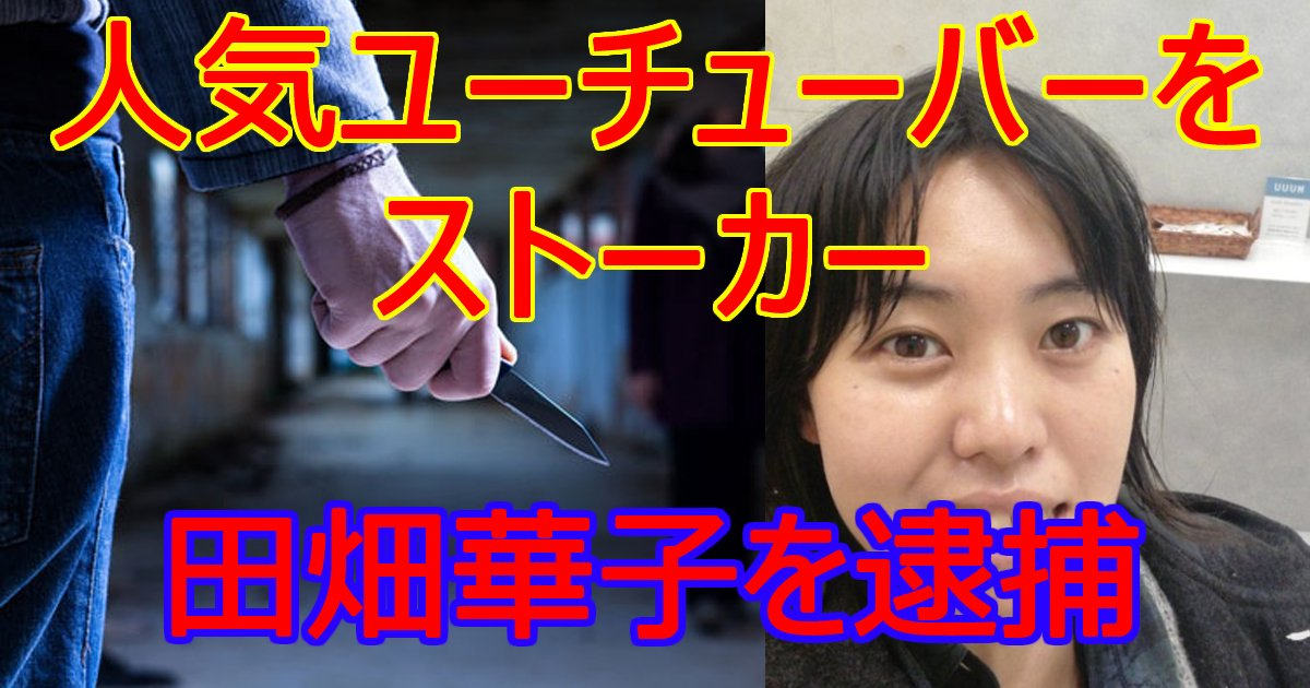 tahatahanako - 人気ユーチューバーがストーカー被害に!田畑華子容疑者を逮捕