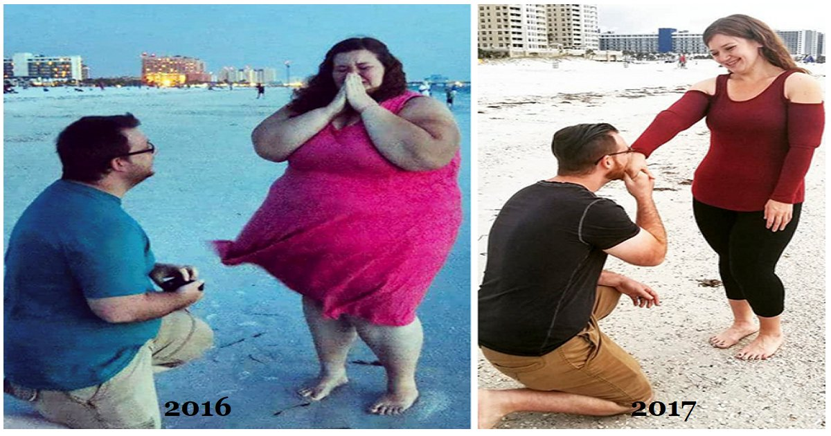 thumb nail couple.png?resize=636,358 - A Couple Have Lost 400 lbs Together After Making New Year's Resolution To Lose Weight.