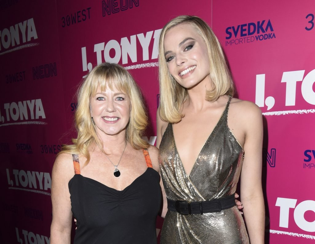 "LOS ANGELES, CA - DECEMBER 05: Tonya Harding and Margot Robbie attend NEON and 30WEST Present the Los Angeles Premiere of ""I, Tonya"" Supported By Svedka on December 5, 2017 in Los Angeles, California. (Photo by Vivien Killilea/Getty Images for NEON)"
