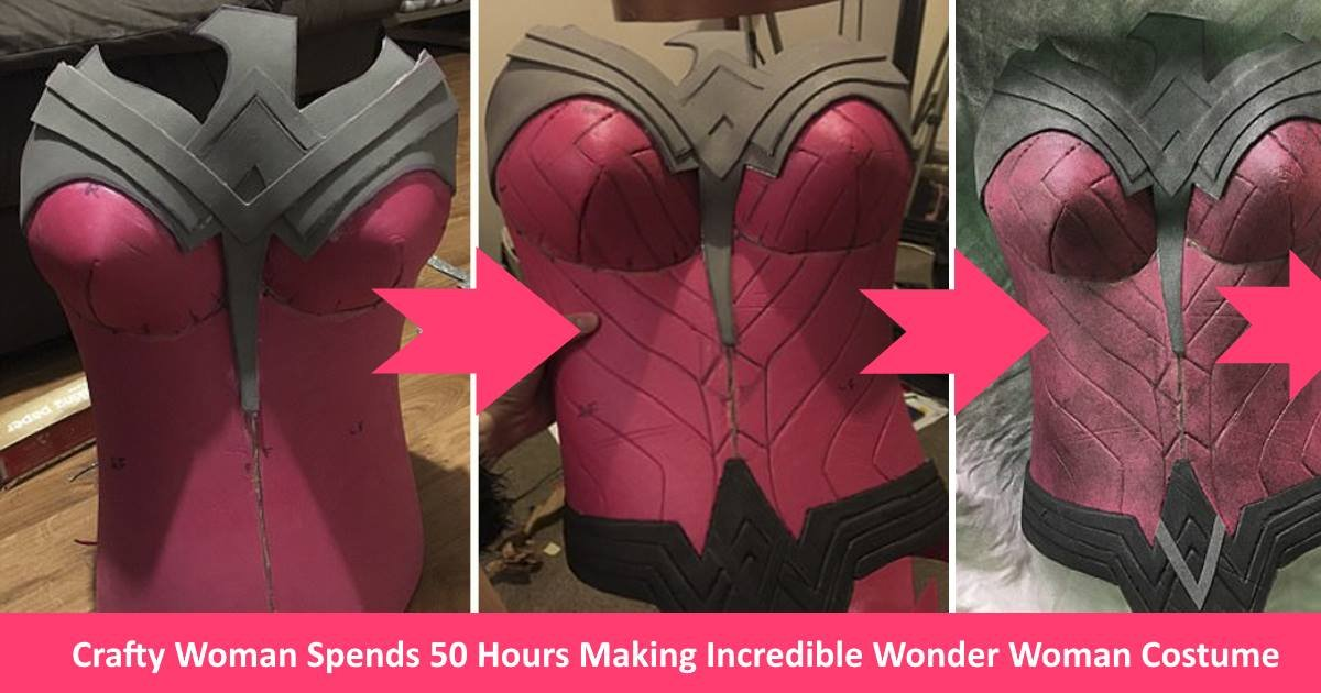 wonderwomanoutfit.jpg?resize=300,169 - Crafty Woman Spends 50 Hours Making Wonder Woman Costume That Looks Straight Out Of The Movie