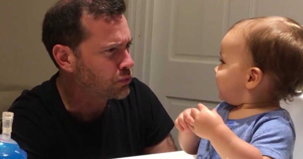 "2 458 - This Baby's Reaction After Seeing His Dad ""Beat Boxing"" Is Winning The Hearts Of The Internet"
