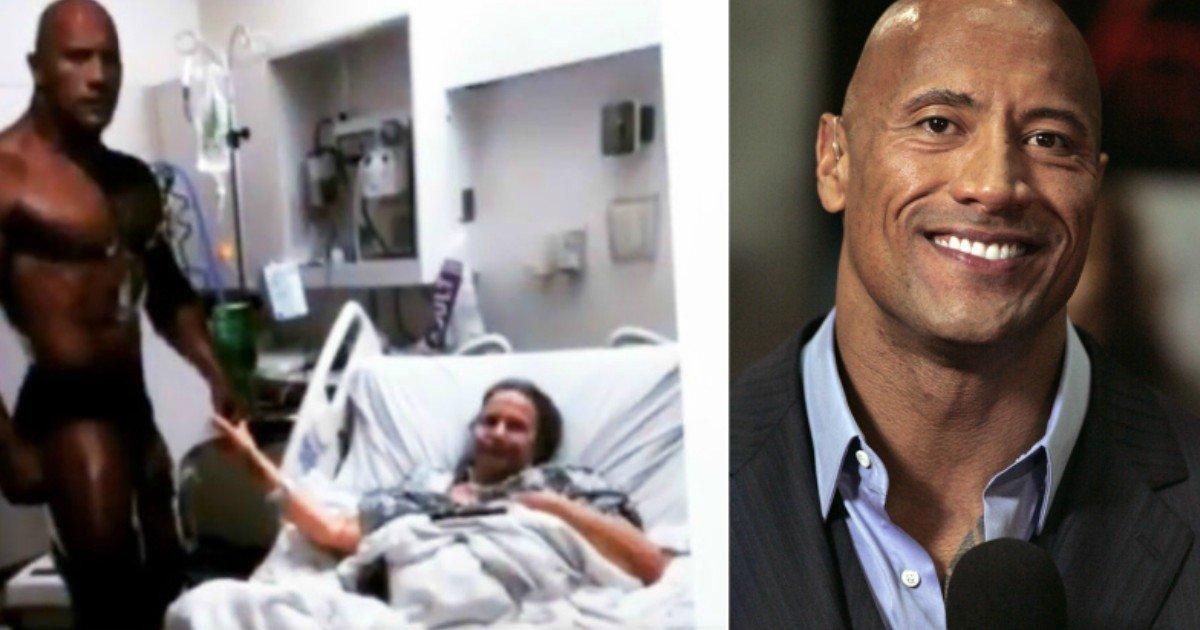 3 451.jpg?resize=300,169 - Une grand-mère malade emmène une image cartonnée de «The Rock» à l'hôpital, ce que Dwayne Johnson a fait après avoir appris à ce sujet vous laissera en larmes