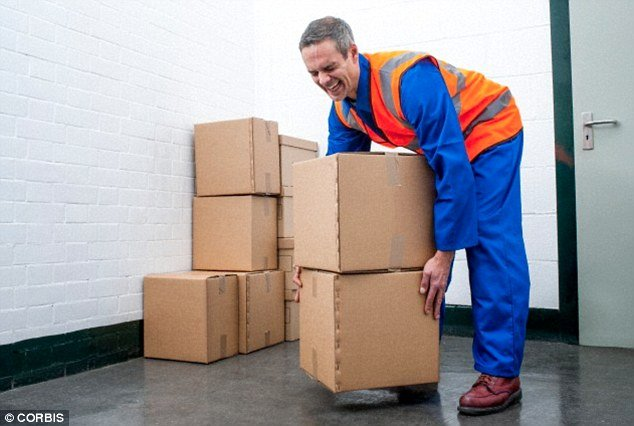 Image result for picking up heavy box