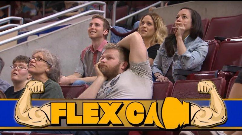 man embarrassed flex cam