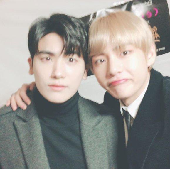 20180111232451 1 - 방탄소년단 '뷔','박서준','박형식', 세 남자의 훈훈한 친목